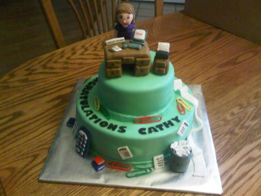 Congratulations Office Manager Cake CakeCentralcom
