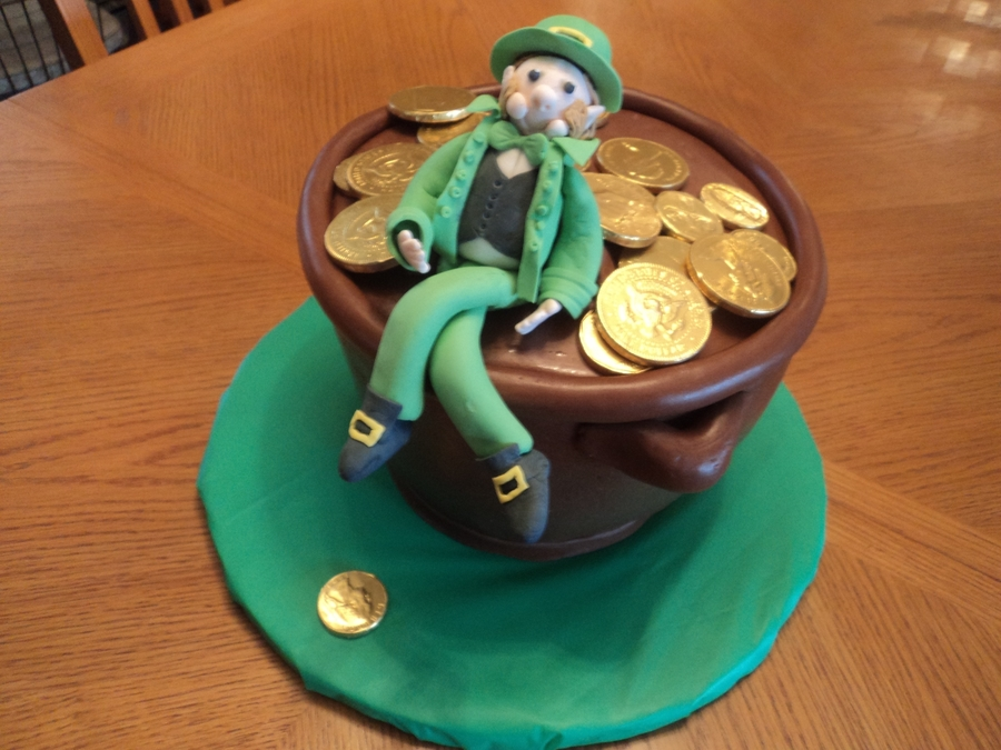 Pot Of Gold Birthday Cake on Cake Central