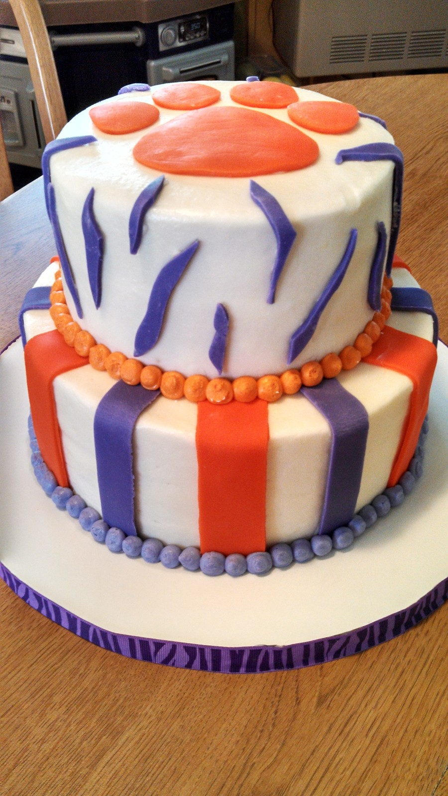 Strange Clemson Birthday Cake Cakecentral Com Funny Birthday Cards Online Eattedamsfinfo