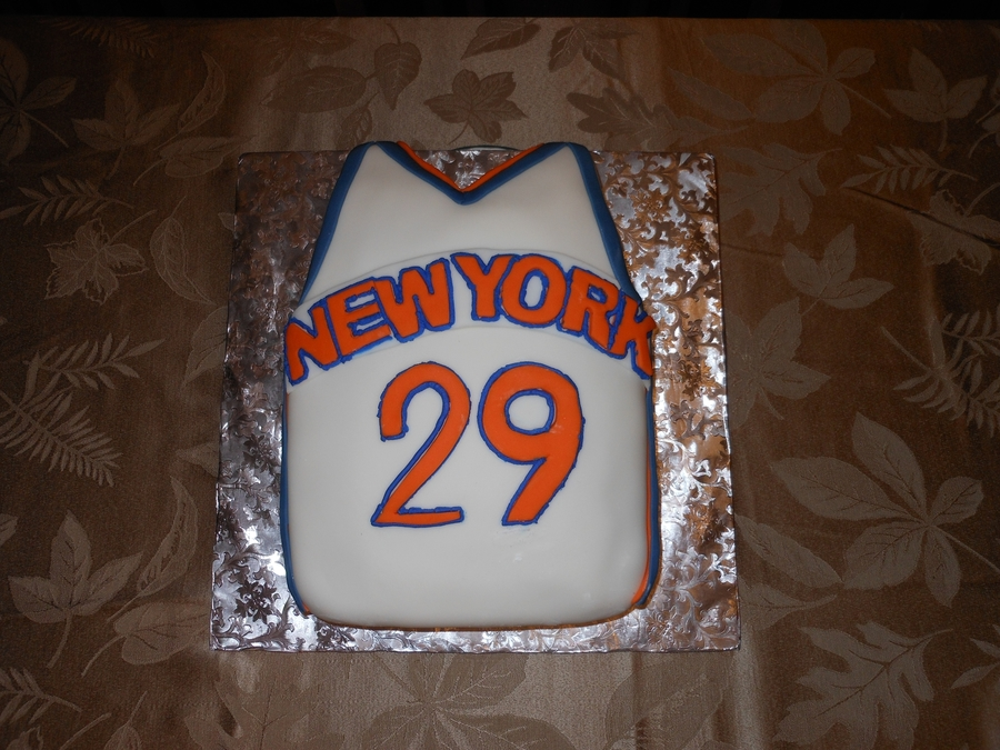 Ny Knicks Jersey on Cake Central
