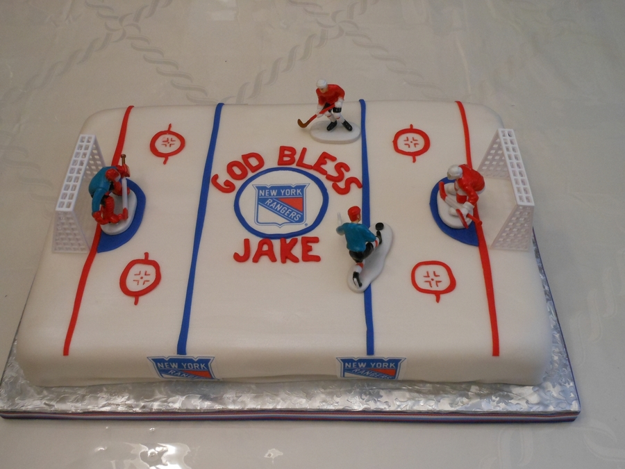 Ny Rangers Ice Rink on Cake Central