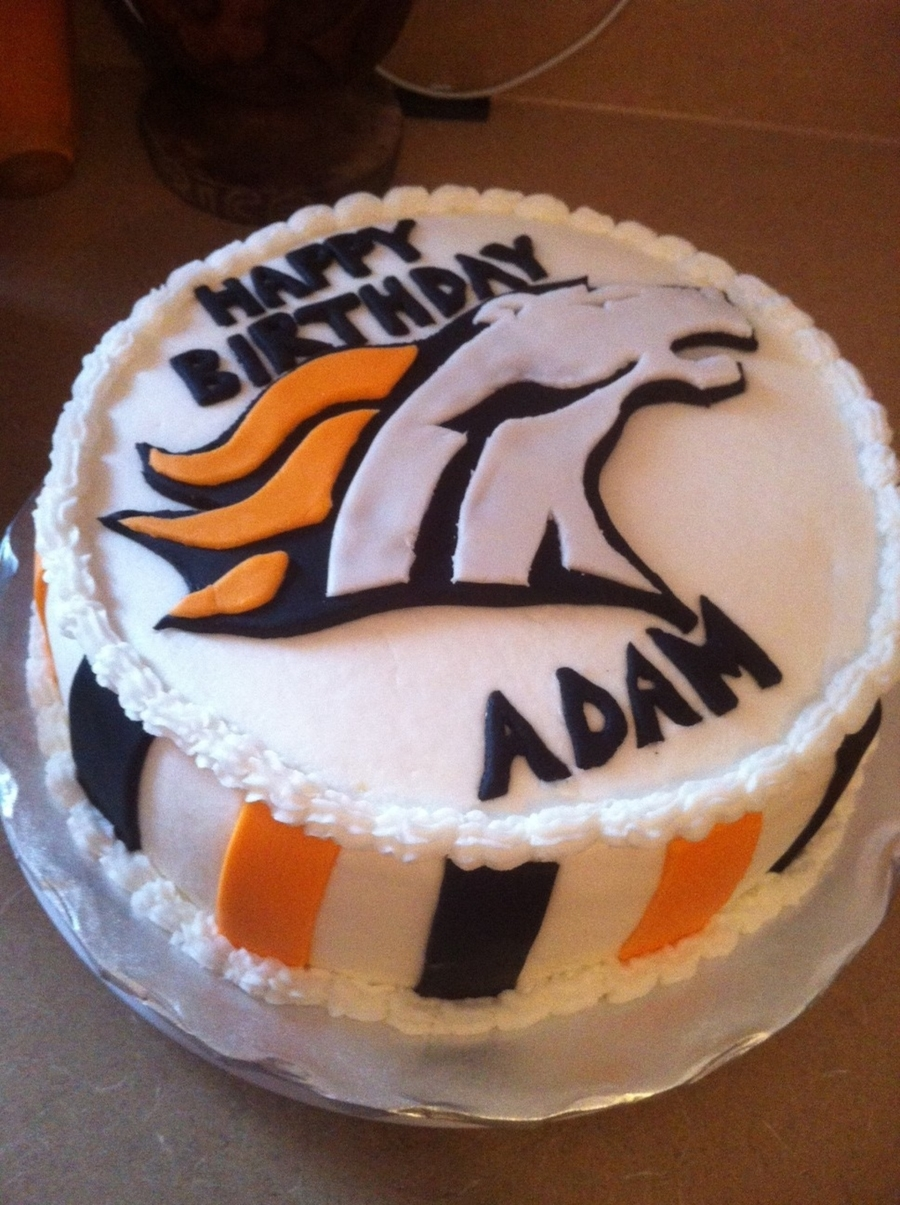 Broncos Team Birthday Cake on Cake Central