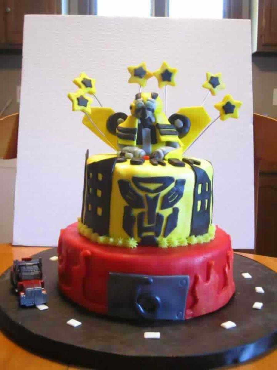 Superb Transformers Cake Cakecentral Com Funny Birthday Cards Online Ioscodamsfinfo