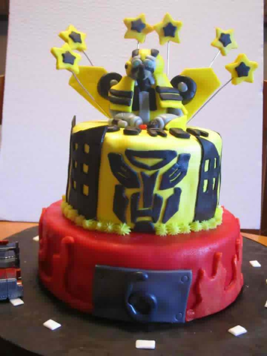Astounding Transformers Cake Cakecentral Com Personalised Birthday Cards Paralily Jamesorg
