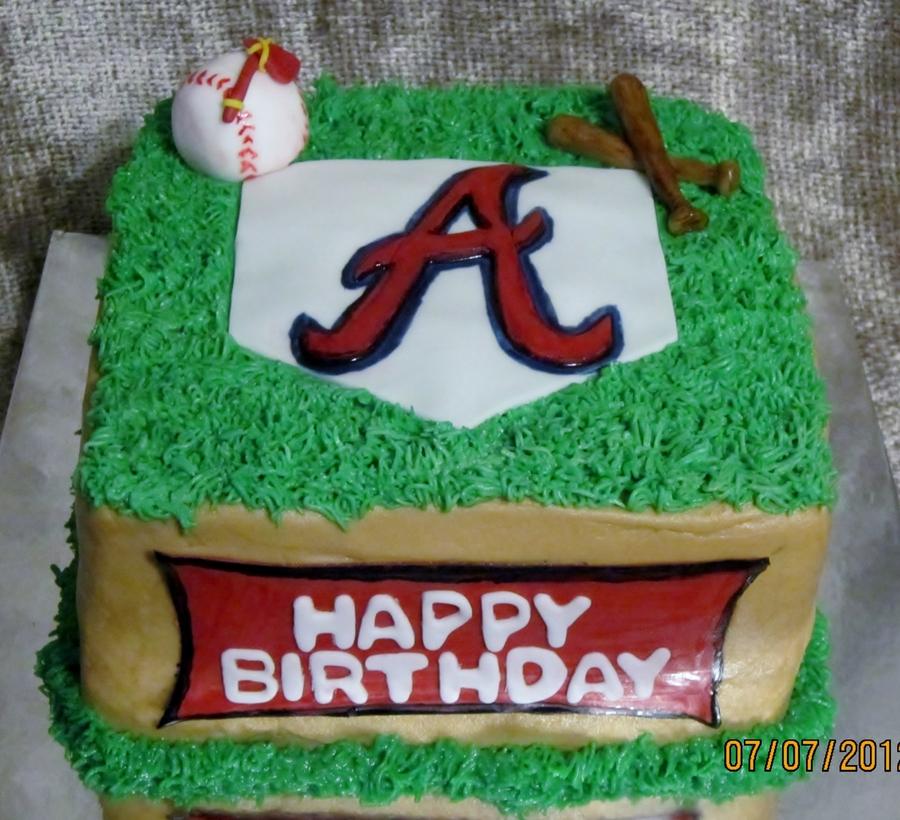 Atlanta Braves Cake On Central
