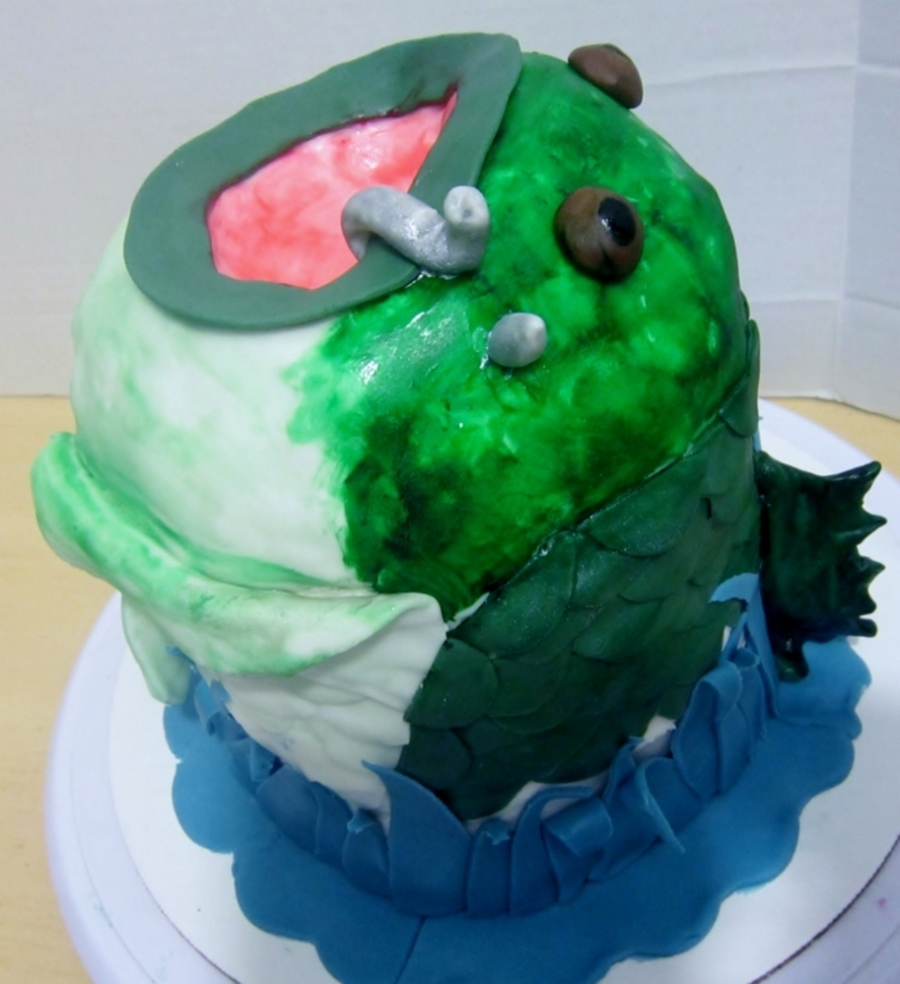 3D Bass Fish Cake on Cake Central