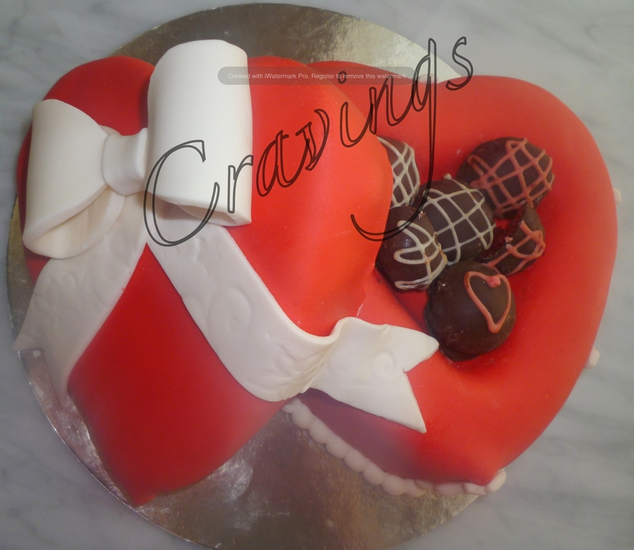 Heart Gift Box Cake on Cake Central