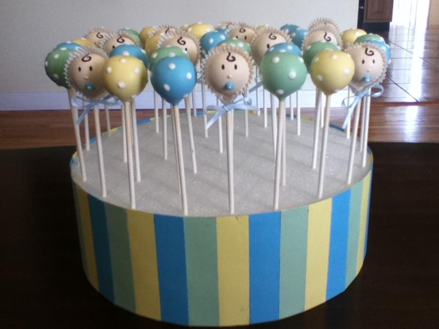 Duck Baby Shower Cake Pops