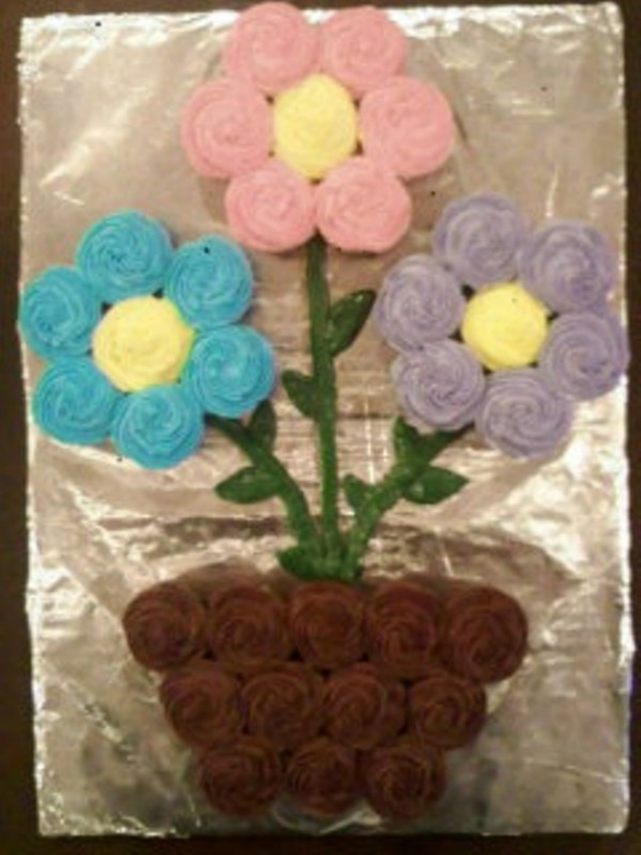 Flower Pot Mini Cupcakes on Cake Central