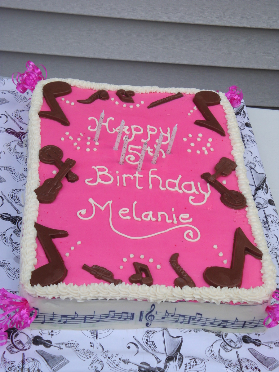 Music Themed Birthday Party Cakecentralcom
