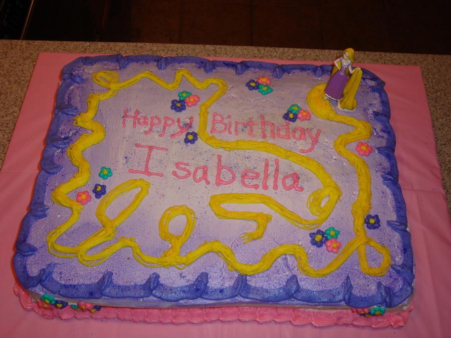 Rapunzel Birthday Cake CakeCentralcom