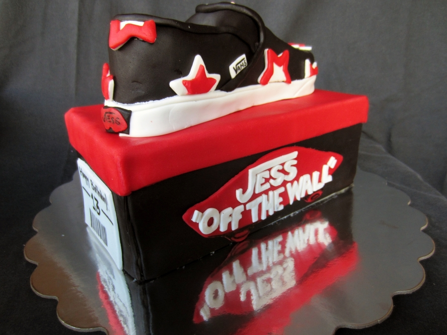 Vans Shoe Box And Shoe Cake Cakecentral Com