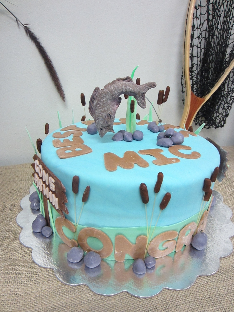 Gone Fishin Retirement Party Cakecentral Com
