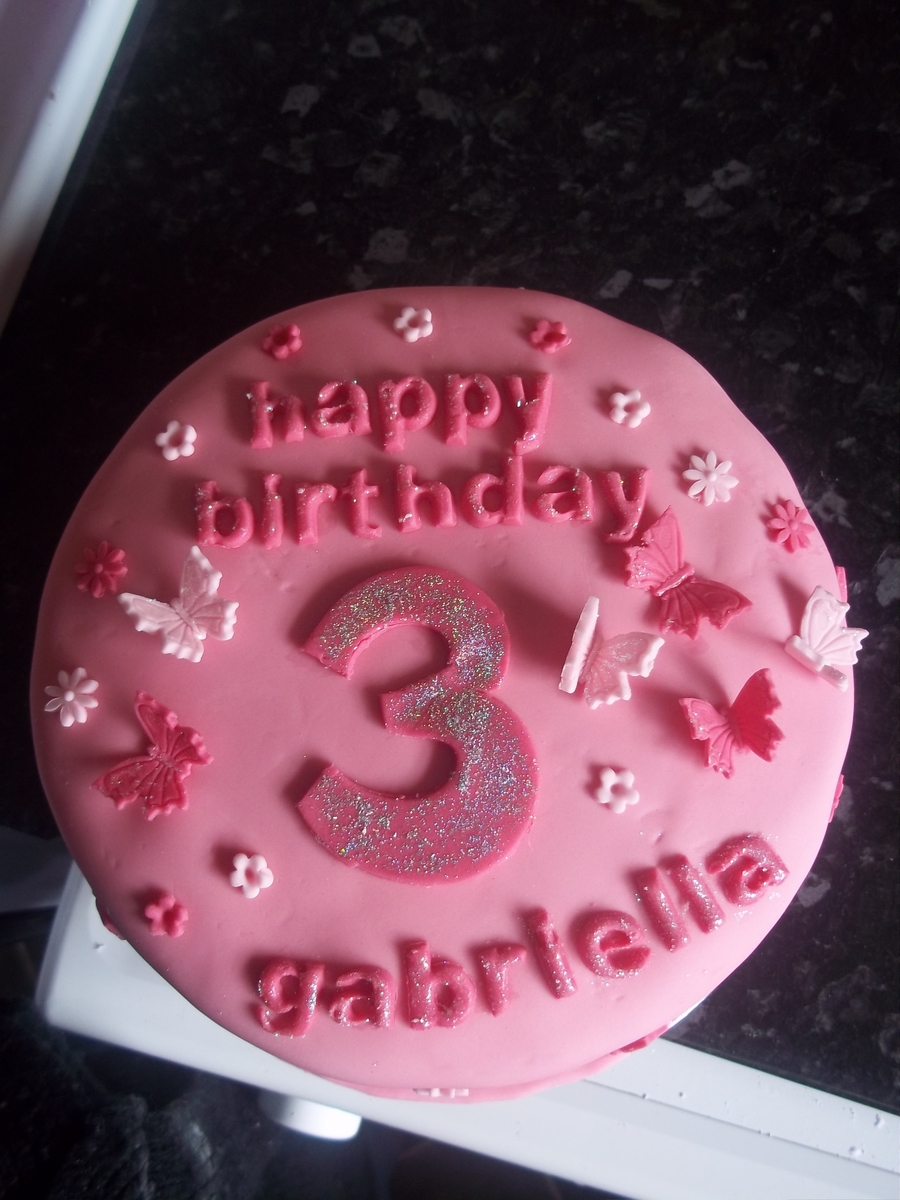 Sparkly Pink on Cake Central