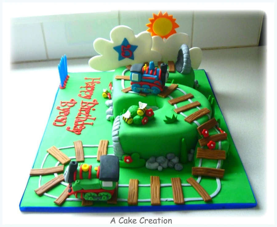 Number 5 Cake In Thomas Theme Cakecentral