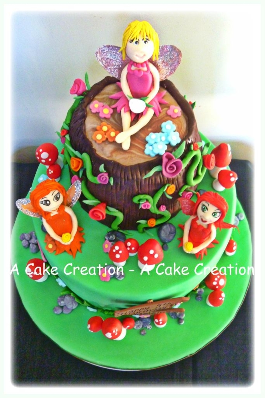 Three Fairies Birthday Cake Cakecentral