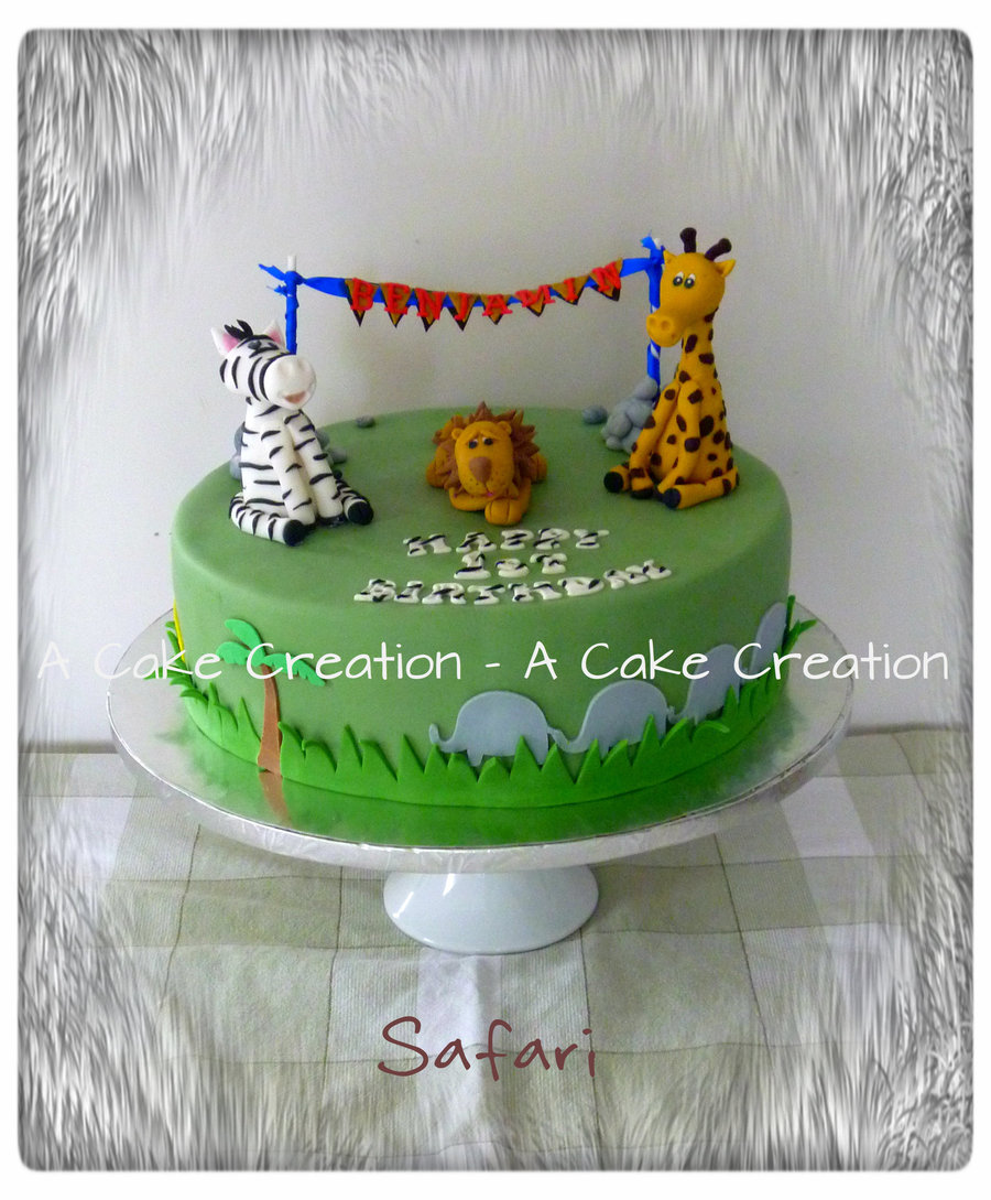 Safari Birthday Cake on Cake Central