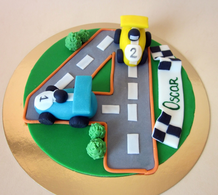 Racing Cars Cake Topper - CakeCentral.com