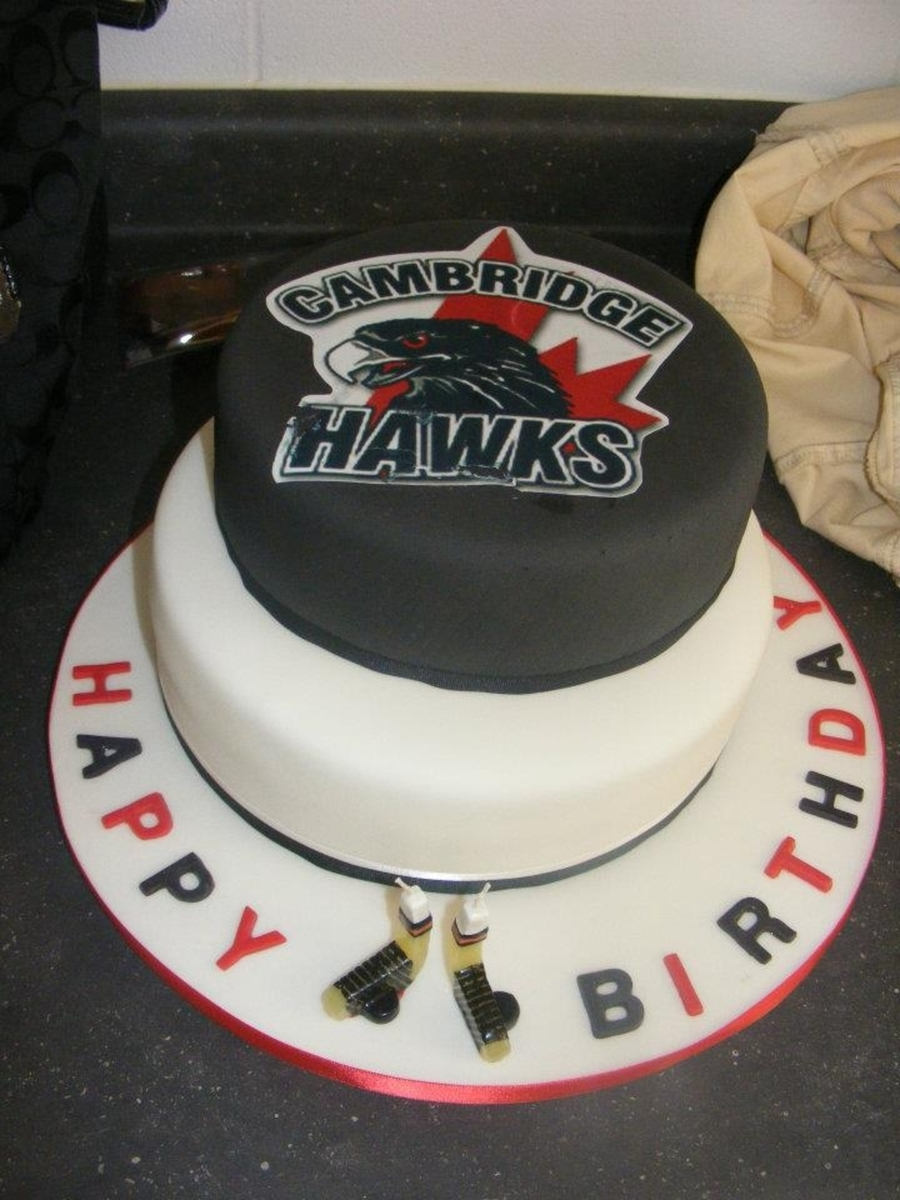 Magnificent Hockey Birthday Cake Cakecentral Com Personalised Birthday Cards Petedlily Jamesorg