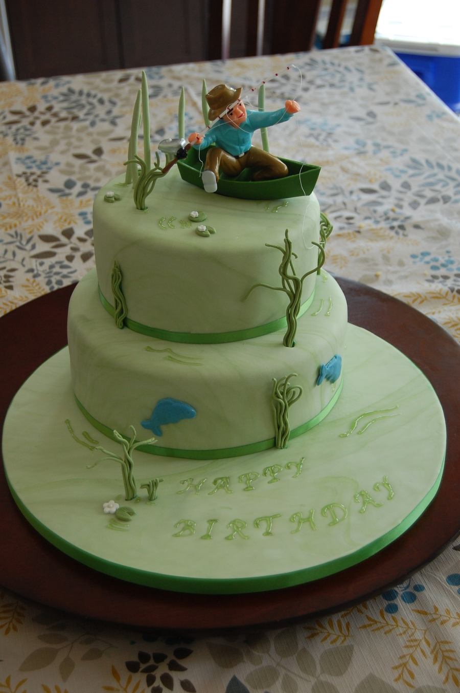Tremendous Fishing Birthday Cake Cakecentral Com Funny Birthday Cards Online Eattedamsfinfo