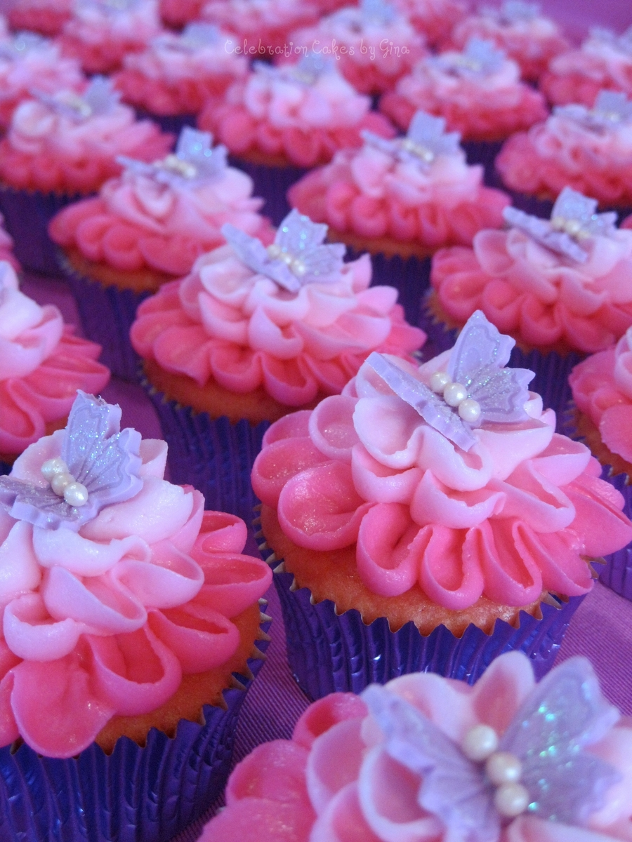 Butterfly Kissed Cuppies on Cake Central