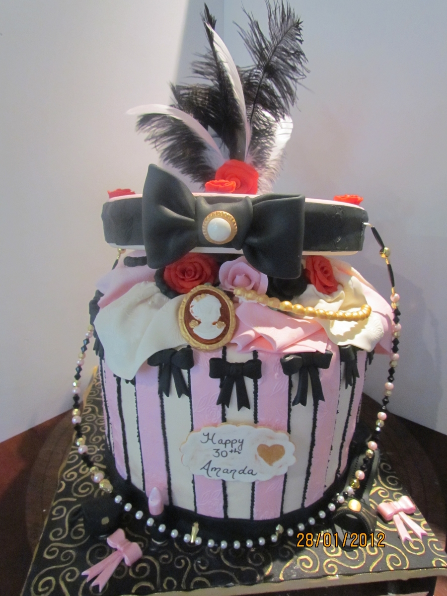 Open Hat Box Cake on Cake Central