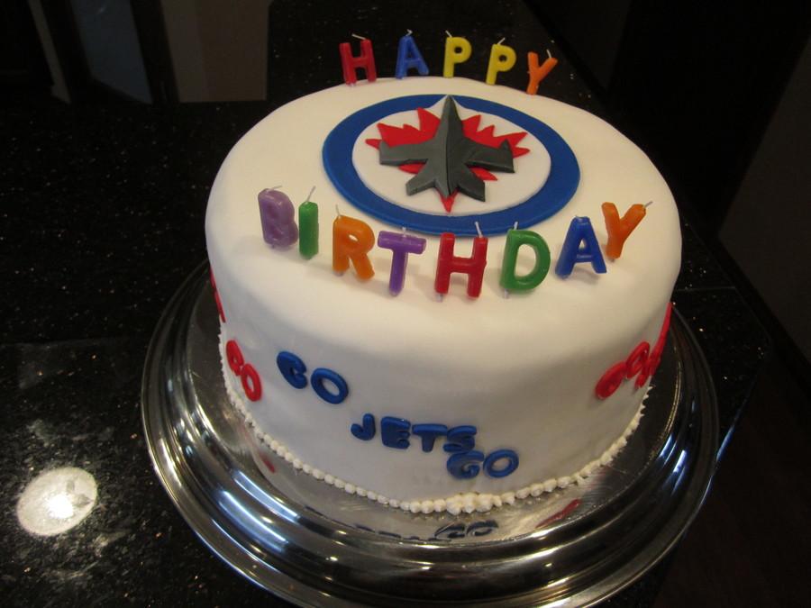 Winnipeg Jets B Day Cake Cakecentral