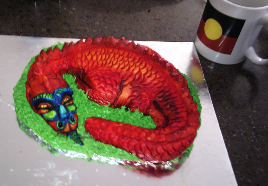 Iced Dragon Cake Topper Sculpture  on Cake Central