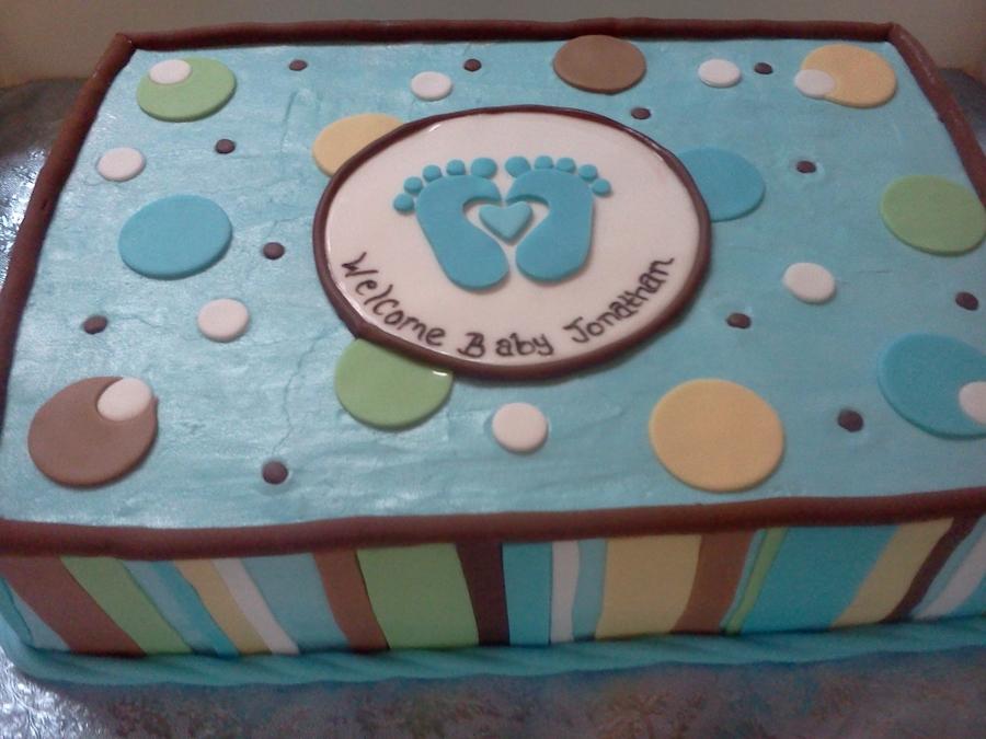 little feet baby shower cake