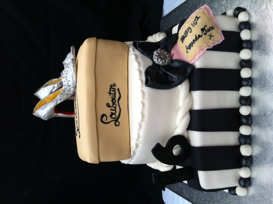 Leboutin Shoe Cake  on Cake Central