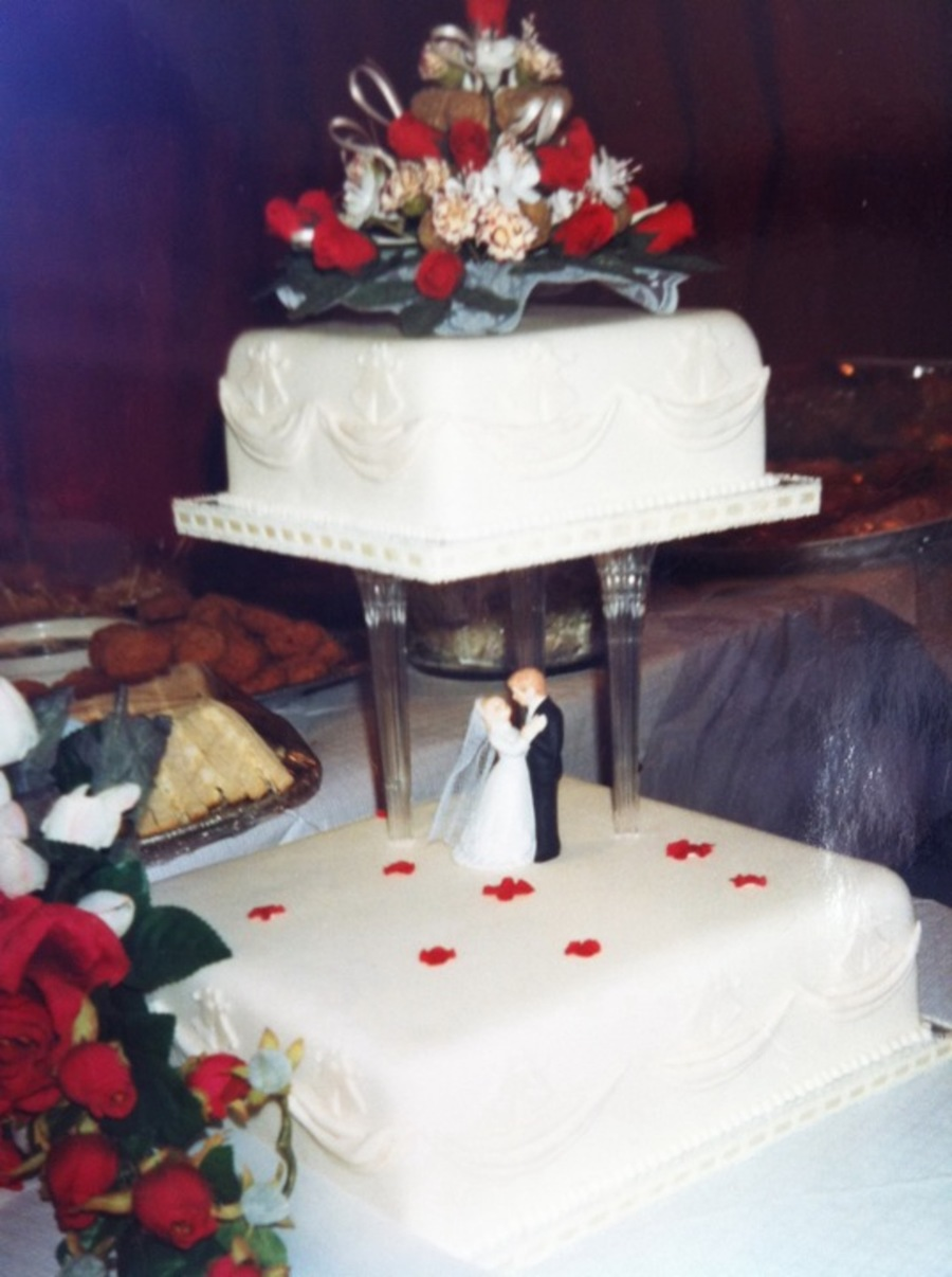 My Sisters Wedding Cake on Cake Central
