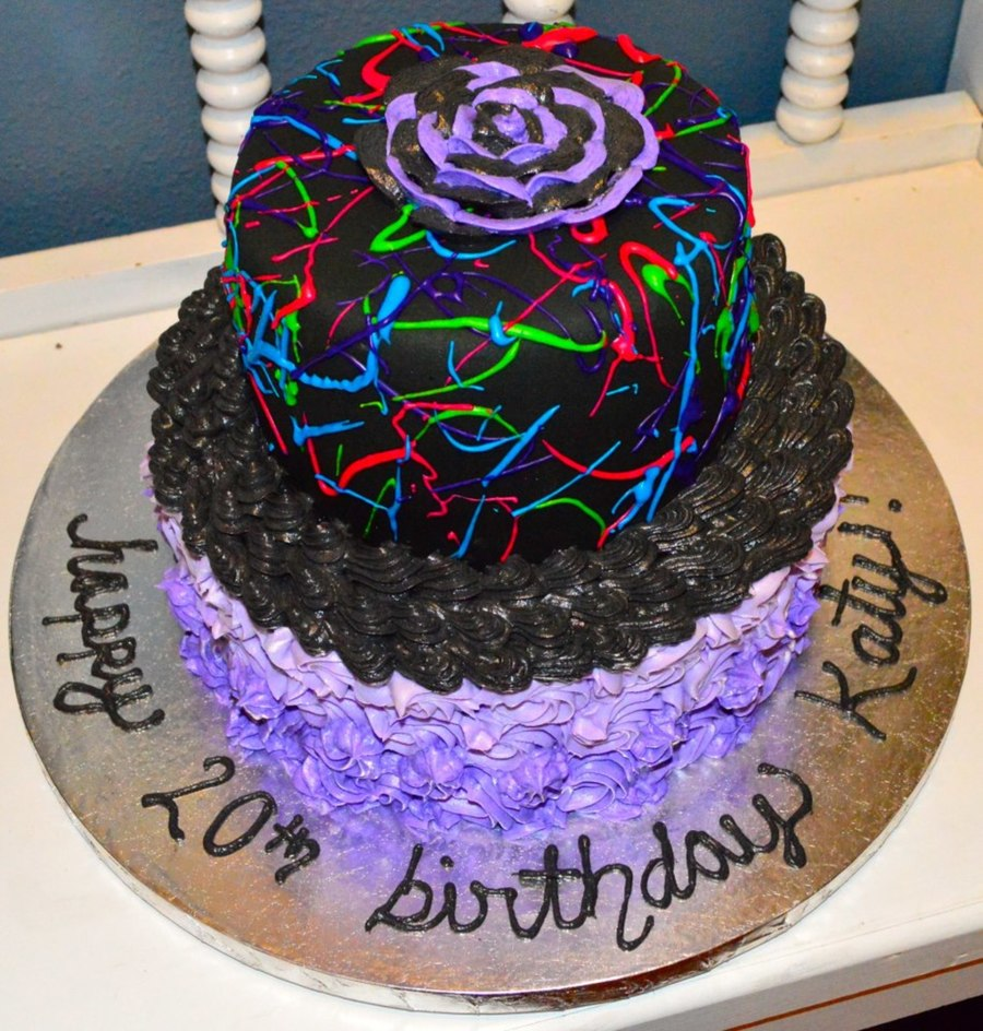 Neon Birthday Cake Cakecentral