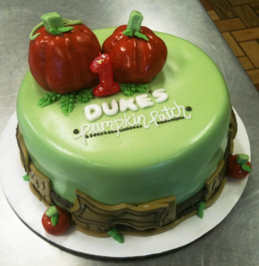 Pumpkin Patch Birthday  on Cake Central