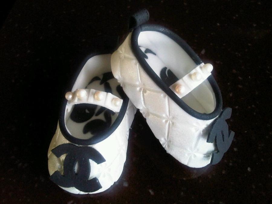 Black Gumpaste Shoes