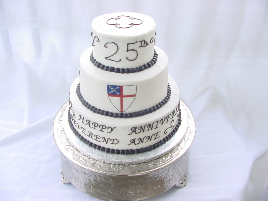 25Th Anniversary For Reverend on Cake Central