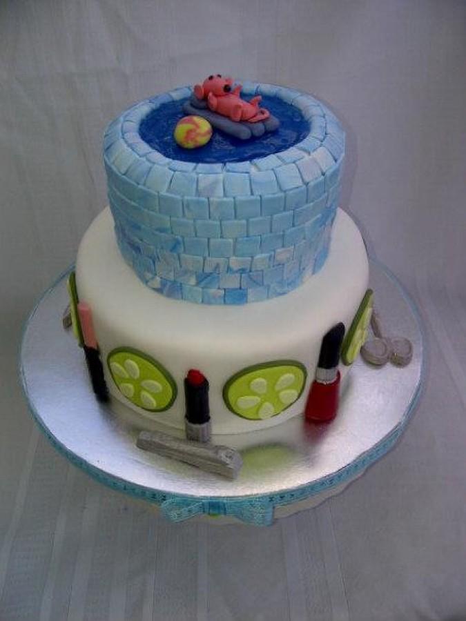 Does Cake Decorating Gel Harden : Spa/pool Birthday Cake - CakeCentral.com