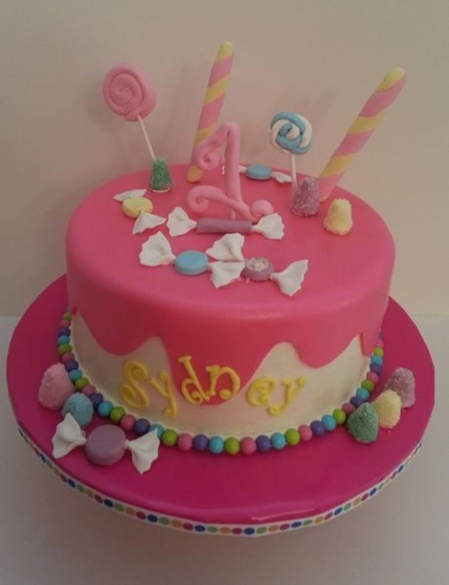 Candy Themed First Birthday Cake Cakecentral