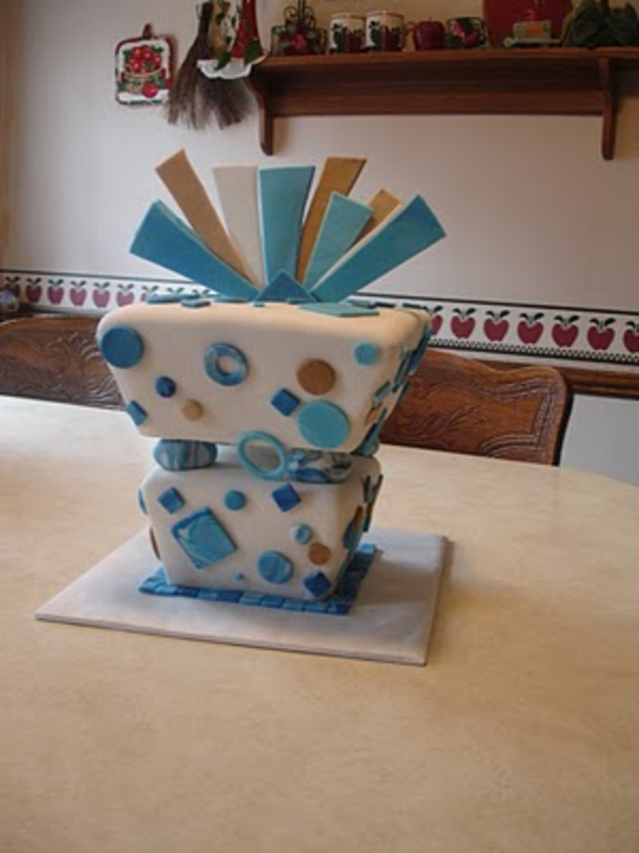 Inverted Gift Box Cake on Cake Central