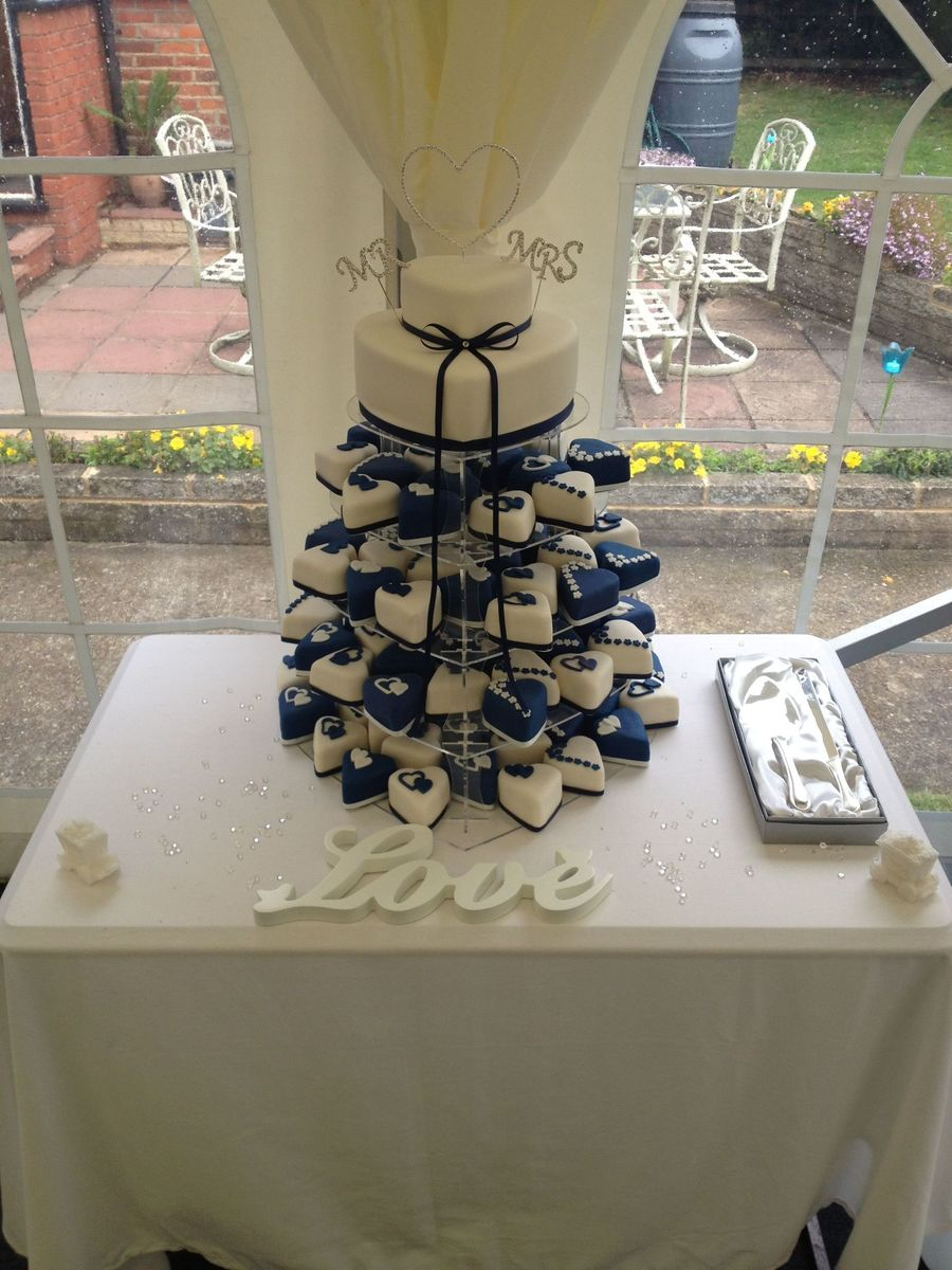 This Was My 2Nd Ever Wedding Cake With 100 Mini Cakes  on Cake Central
