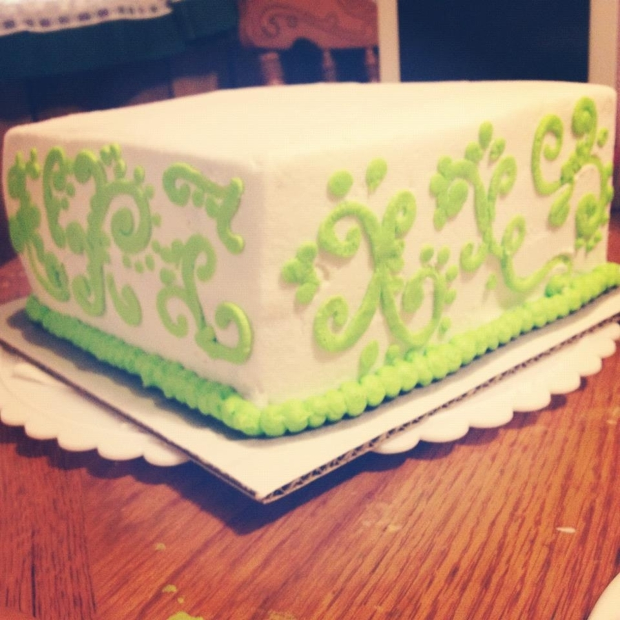Basic Scroll Work Wedding Cake Top - CakeCentral.com