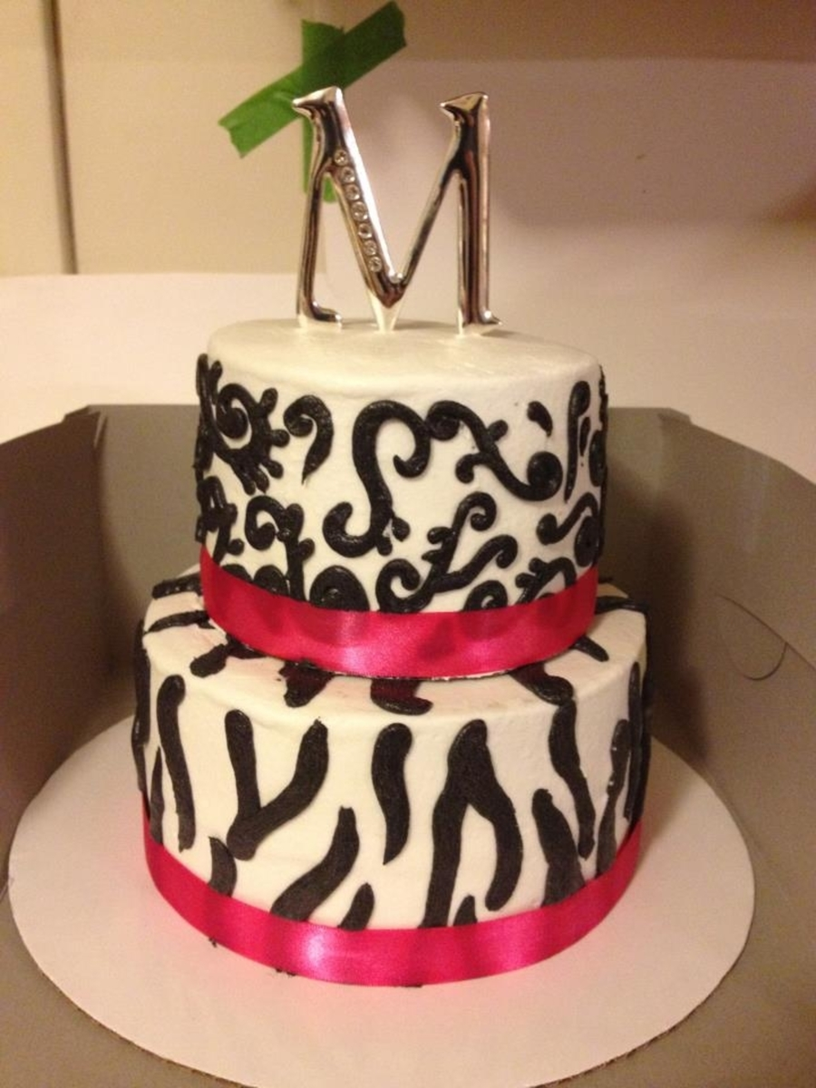 Pink And Zebra Cake  on Cake Central