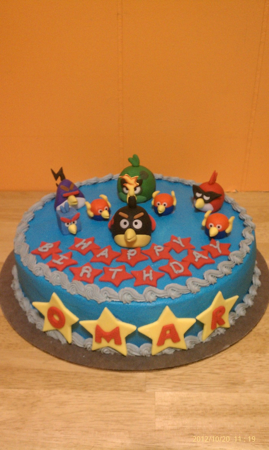 Angry Bird Cake Decorations Made Of Fondant And Cake Covered In Buttercream on Cake Central
