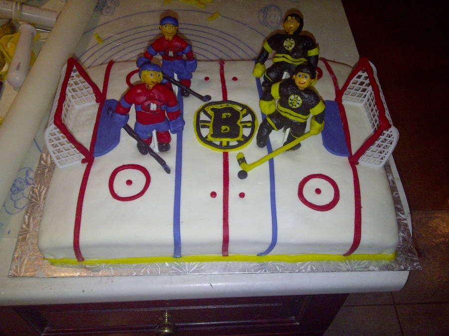 Bruins Vs Canadians On Hockey Ice on Cake Central