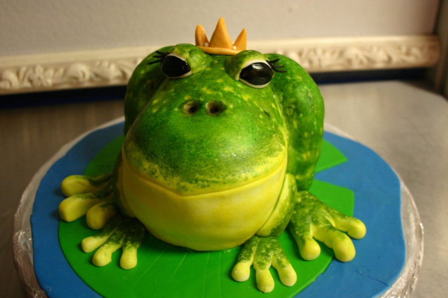 Princess Frog Cake.  on Cake Central