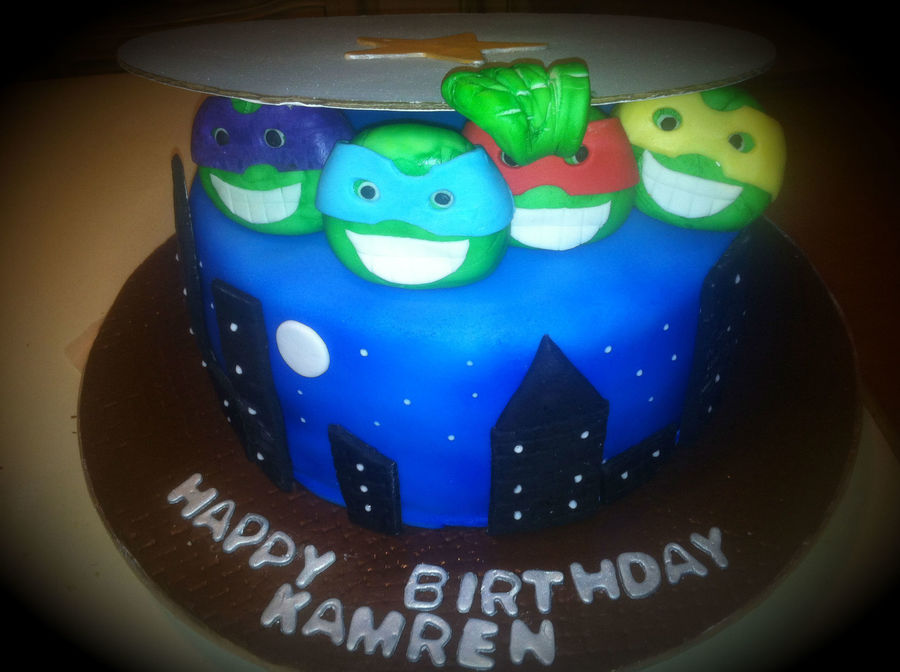 Teenage Mutant Ninja Turtles Birthday Cake on Cake Central