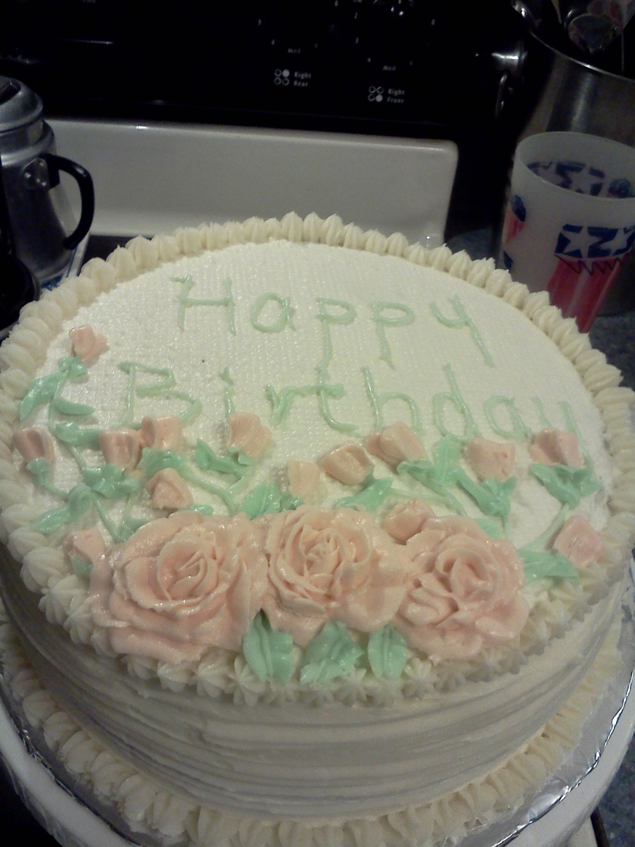 Moms 85th Birthday Cake Cakecentral