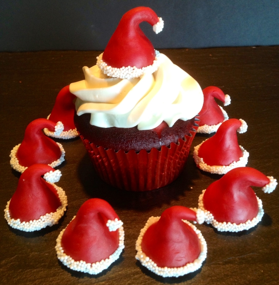 Santa Hat Cupcakes on Cake Central
