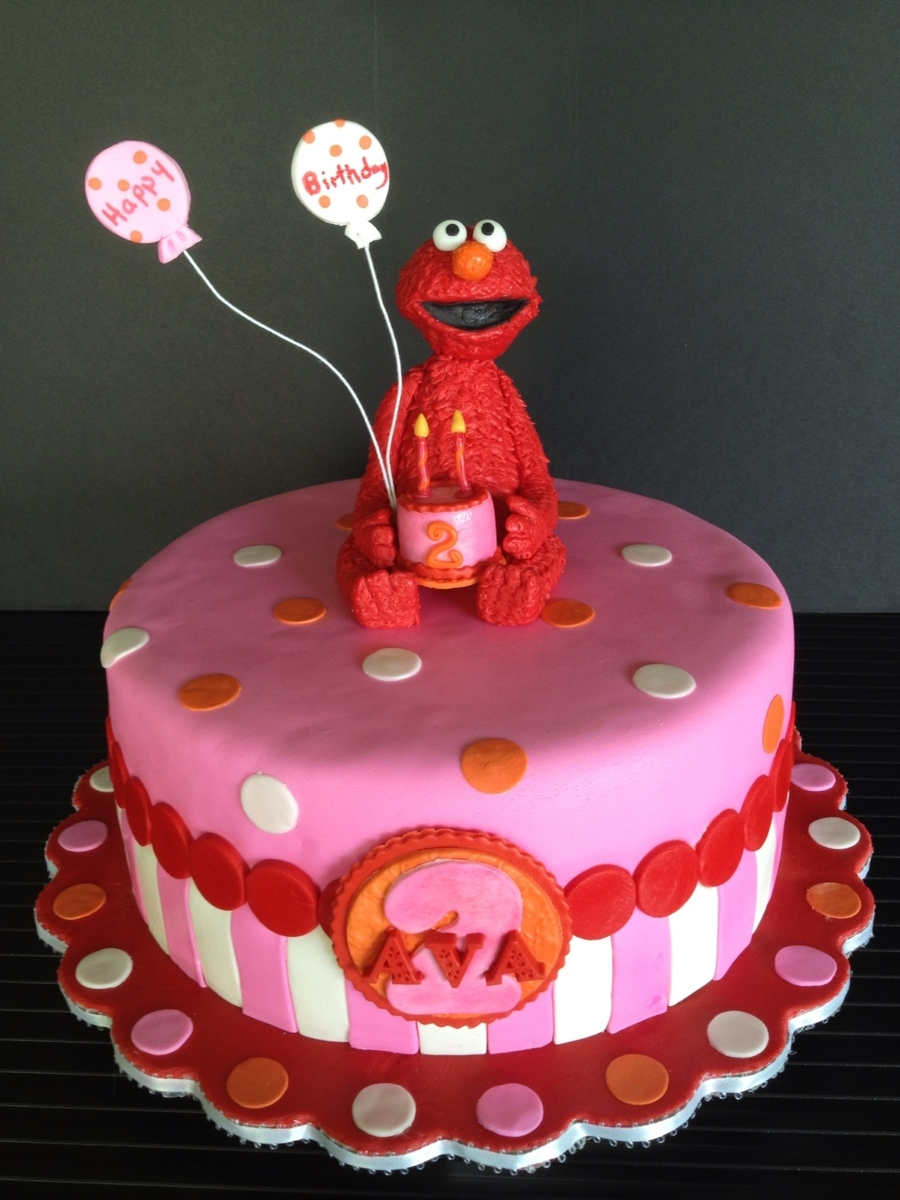 Elmo Birthday Cake For Ava on Cake Central