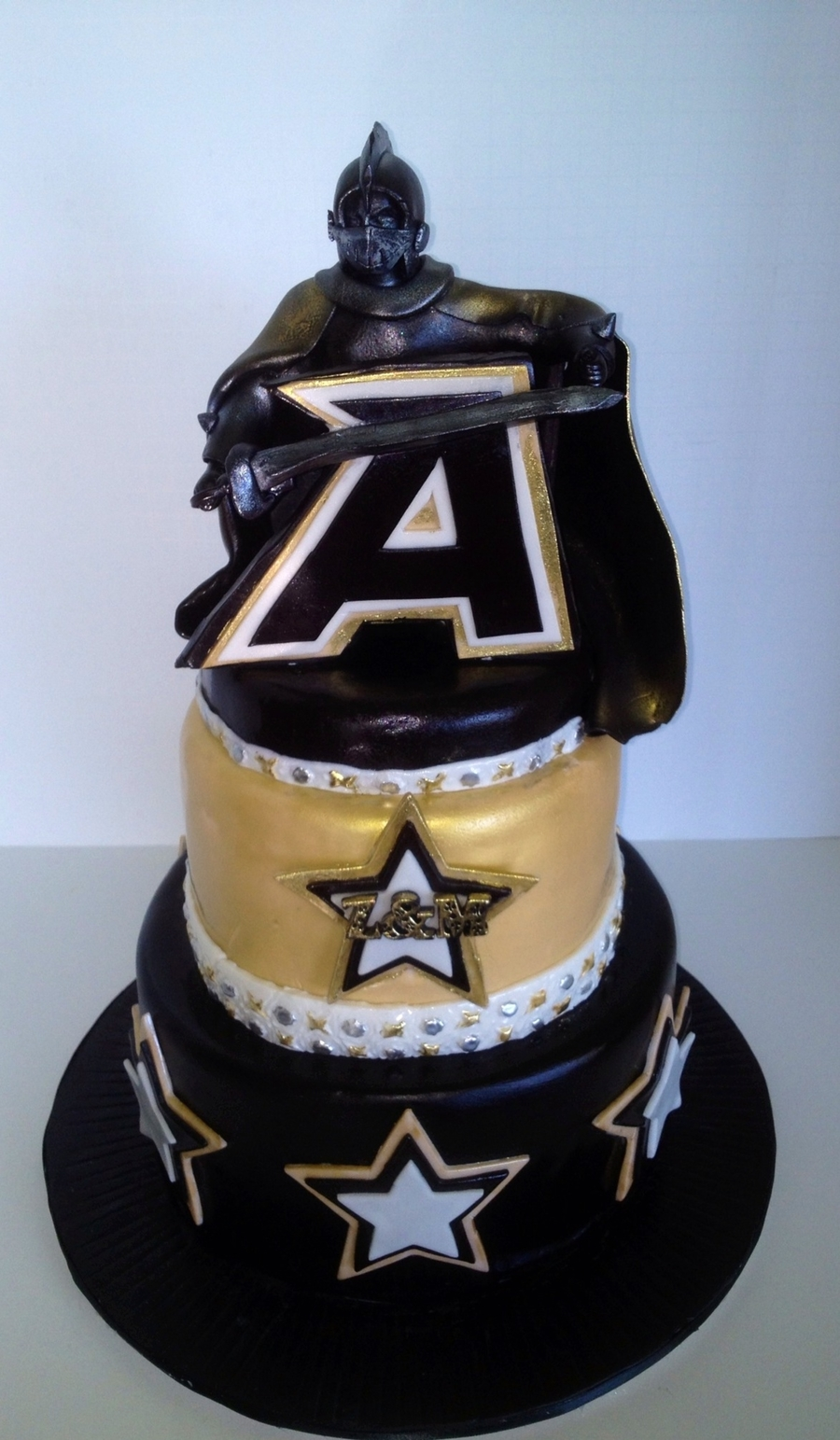 "Westpoint Black Knight Groom""s Cake on Cake Central"