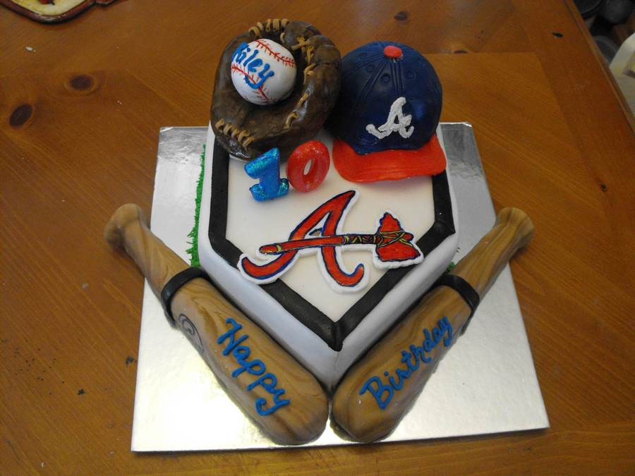 Atlanta Braves Birthday Cake Cakecentral